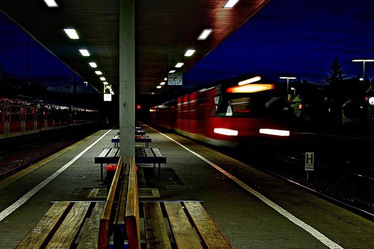 Ich fahre Zug